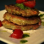 Fried Green Tomatoes with Corn Bread Crust